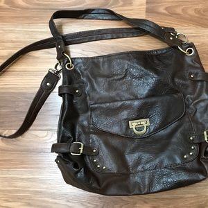 ASOS Large Brown Shoulder Crossbody Bag EUC